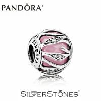 Скидки! Оригинал Pandora Пандора шарм бусина Розовое сияние природы арт. 791969PCZ