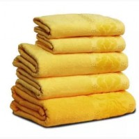 "Махровое полотенце ""Мел Тем"", 70х140см, 360г/м2 (жёлтое)"