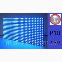 Модуль P10 16х32 Led для наружного применения ГОЛУБОЙ