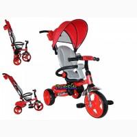 Складной детский велосипед с ручкой Azimut t-300