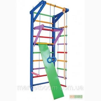 Спортивный уголок, спортивные комплексы для дома, для спорта стенки Радуга 3-220