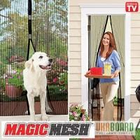Москітна сітка Magic Mesh (Buzz Off) для двері на магнітах