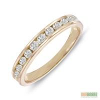 Золотое кольцо с бриллиантами 0,48 карат 17 мм. НОВОЕ (Код: 17922)