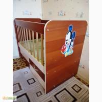 Продам детскую кроватку от 0 до 5 лет с ящиками Babybed Furkan бежево-коричневую