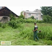 Покос травы, покос травы цена за сотку 40 грн, расчистка участка от мусора травы, камыша
