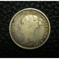 Англия 3 пенса 1886 год серебро! ОРИГИНАЛ!!!! НЕ ЧАСТАЯ