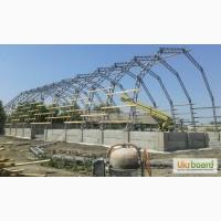 Ангари, металеві конструкції для: зерносховища та овочесховища, накриття під техніку