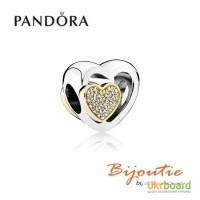 PANDORA шарм союз любящих сердец 791806CZ