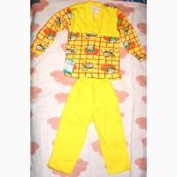 Теплая пижама для девочки, мальчика, детский домашний костюм