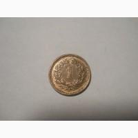 Швейцария-1 раппен (1941) бронза