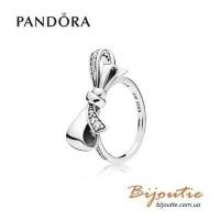 PANDORA кольцо ― сияющий бант197232CZ оригинал