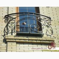 Кованый французский балкон, изготовление и установка
