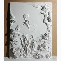 Объемное панно, рельефная картина Подводный мир