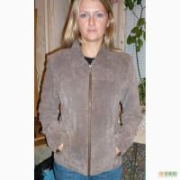 Женская замшевая, демесизонная курточка,р 42 - 44