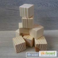 Декоративные деревянные кубики ручной работы
