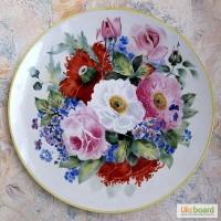 Продам настенную тарелку Махровый мак диаметр 36 см по рисунку художника И.Г.Конькова