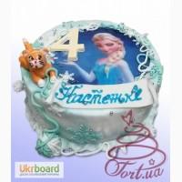 Детский торт Холодное сердце на заказ в Киеве