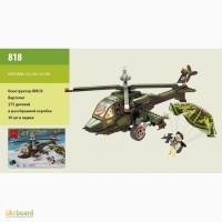 Конструктор Brick Военный вертолет, 275 дет., 818