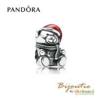 Оригинал PANDORA шарм 8213; рождественский мишка 791391ENMX