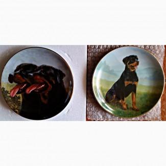 Продам коллекционные тарелки с разными породами собак