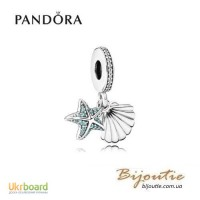 PANDORA шарм-подвеска ракушка и морская звезда 792076CZF