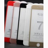 Стекло защитное айфон iphone 4 4s 5 5 s 5c se 6 6s 6plus 7 7plus 8 8plus 2D 3D 4D