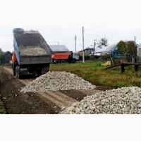 Щебень, вторичный щебень, дробленый бетон, жерства