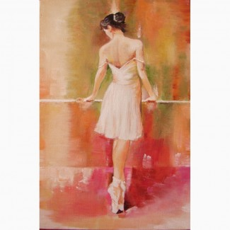 Картина маслом на подарок Балерина
