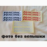 Наклейки на ручки, дворники, двери, Racing Черная, Красная и Белая светоотражающая 4 шт