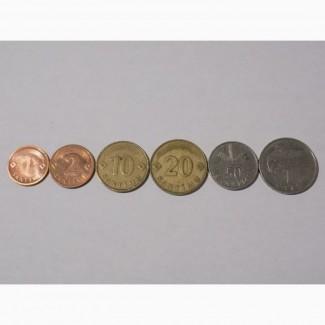 Монеты Латвии (6 штук)