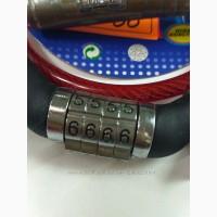 Тросовый кодовый противоугонный универсальный замок для велосипедов колясок санок с кодовы