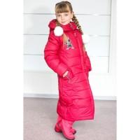 Зимнее тёплое пальто для девочек Paris, возраст 6-13 лет, цвета разные