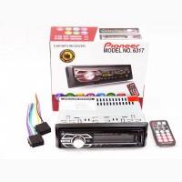Автомагнитола Pioneer 6317 - MP3 Player, FM, USB, SD, AUX - RGB подсветка