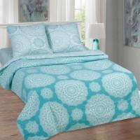 Марокко - стильное постельное белье с бирюзовым орнаментом (поплин, 100% хлопок)