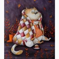 Картина маслом Душевний котик60*70