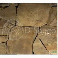 Песчаник природный натуральный камень (плитняк) Харьков купить. 10-40 мм. Коричневый.