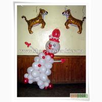 Воздушные шары на Новый год Киев, оформление новогодних корпоративов, воздушные шарики.