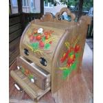 Хлебница деревянная, украшена росписью оригинальный подарок, хороший подарок
