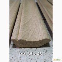Плінтус дерев яний в ассортименті: дуб, бук, липа, ясень, вільха, модрина