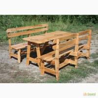 Набор мебели из дерева для сада, дачи, в беседку, на террасу / Код: Нм-6