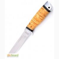 Нож охотничий Дичь с рукоятью из бересты с кожаным чехлом