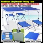 Столик для пикника и туризма Welfull-ZZ18007, складной столик 120х60 см