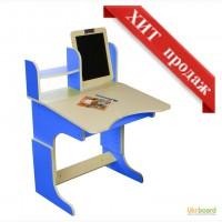 Детский письменный стол + мольберт Радуга (синий)