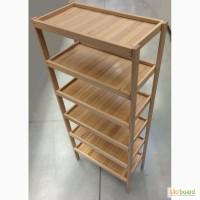 Стеллаж деревянный, 6 полок