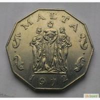 Мальта 50 центов 1972 год СОСТОЯНИЕ