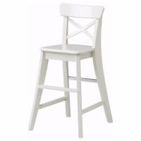 Классный детский высокий стул (белый) новый ИКЕА ИНГОЛЬФ