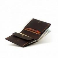 Кошелёк кожаный + Подарок брелок Мужской бумажник, портмоне, гаманець