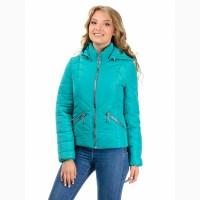 Демисезонная куртка бирюза размеры 42-50 опт и розница- D230
