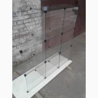 Стеклянная витрина куб 3, 35 м. б/у, стеклянный прилавок б/у