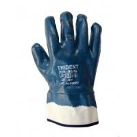 Перчатки Trident DQ6217 - полный облив нитрилом, твердый манжет, dq 6217, Trident